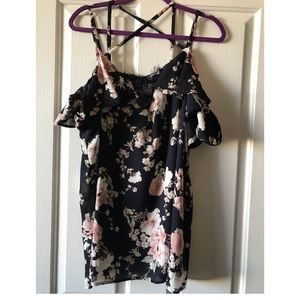 ff42f738f2b9b9 torrid Tops - Torrid Floral Print Lace Inset Off Shoulder Top